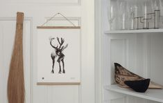 The black and white Reindeer wall art print brings some of that Lapland magic to your home. Printed on high-quality, eco-friendly paper. Scandinavian Wall Decor, Scandinavian Design, Wall Art Prints, Fine Art Prints, Wood Poster Frames, White Reindeer, Eco Friendly Paper, Sustainable Design, Biodegradable Products