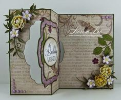 From My Craft Room: Tutorials Swing Card, Shaped Cards, Magnolias, Stamping Up, Paper Crafting, Clever, Tutorials, Shapes, Patterns