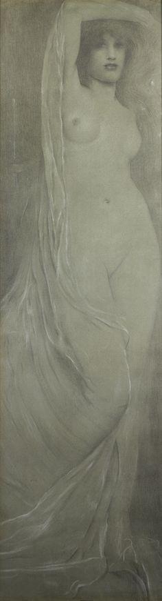 Diptyque (Acrasia dans les bois – Britomart dans les bois) | Fernand Khnopff | 1892/1894 | Délégation générale à la numérisation des patrimoines culturels | Public Domain Zeppelin, Art Drawings, Drawing Art, Portrait, Art Nouveau, Museum, Beautiful, Artwork, Nature