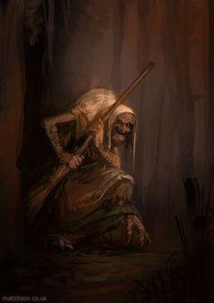 Baba Yaga, era considerada uma deusa perigosa na mitologia eslava, pois muitas vezes aparecia como uma pessoa cruel, mas outras como uma pessoa boa que veio para auxiliar. Assumindo sua forma má, ela tinha o costume de caçar homens de personalidade ruim. Esses eram levados mortos para sua casa e lá eram revividos por ela para serem devorados em seu caldeirão ou utilizados para algum terrível feitiço! Os ossos então eram utilizados como vedação externa para sua casa e os dente usados na…