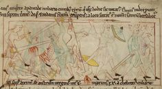 'Abram Routs & Pursues the Four Kings and Rescues Lot', in the Old English Hexateuch, British Library, MS Cotton Claudius B IV