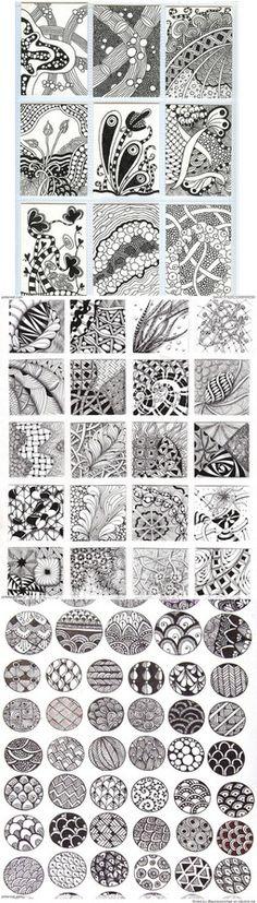 art journal Zentangle Patterns & Ideas