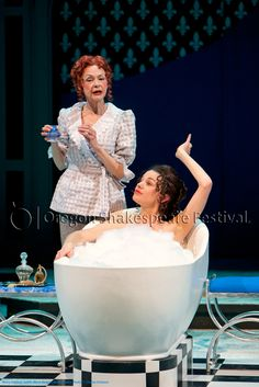 Oregon Shakespeare Festival. HENRY V (2012): Judith-Marie Bergan, Brooke Parks. Photo: T. Charles Erickson.