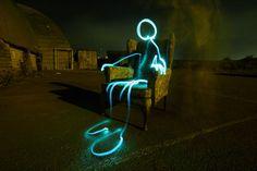 Armchair Alien - Michael Bosanko - Light Graffiti