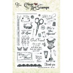 Crafty Secrets 8-Inch by 6-Inch Clear Art Stamps, Sew Special #EasyPin