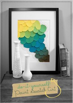What to do with old paint swatches. ANYONE can do this... time to create art!