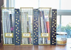 Nate Berkus magazine files & DIY binders {Organized Desk Reveal}