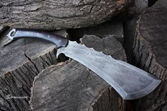 """Handcrafted FOF """"Dominion"""", two handed, full tang, battle cleaver.. Smexy, beastly, insanely expensive piece of weaponry here ^^"""