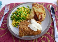A lighter fish and chips Fish And Chips, Suppers, Lighter, French Toast, Yummy Food, Healthy Recipes, Breakfast, Simple, Morning Coffee