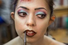 Pin for Later: This Zombie Princess Jasmine Costume Is Both Gross and Gorgeous Add a Brown Lip