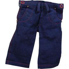 Vintage 1940s Original TERRI LEE Doll Blue Jeans! from memoriesofthingspastantiques on Ruby Lane