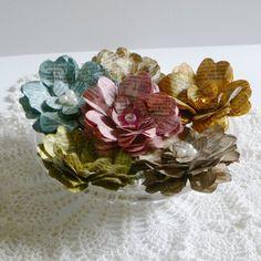 Vintage paper flowers.