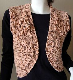 12264c6ef2 Free Fringed Bolero Vest For Women Knitting Pattern Loom Knitting