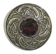 Pewter Brooch with Amethyst stone