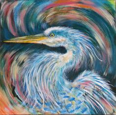 Art, Heron Art, Painting