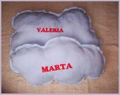 Cojines nube personalizados bordados a máquina