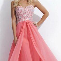 Tony Bowls pink sweetheart prom dress