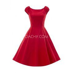 Compelling Off-shoulder Sleeveless A-line Tea-length Women Dress 2017 - OACHY The Boutique #sleeveless, #line, #boutique, #women, #oachy
