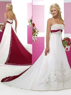 Satin sleeveless bridal gown. This would be sweet with silk plaid tartan on back. Celtic wedding. Dresses Wedding, Weddi...