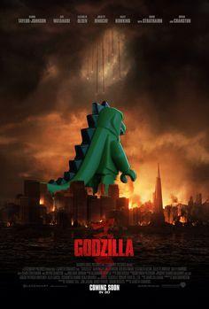 Godzilla-Teaser-Poster-2 Lego Film, Lego Tv, Lego Movie, Godzilla, Lego Decals, Lego Website, Lego Memes, Lego Gifts, Iron Man Avengers