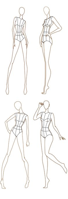 Free download - Fashion design templates. more here http://www.designersnexus.com/design/free-fashion-croquis-templates/  Pourquoi? Car je vais m'inspirer des poses pour créer du dynamisme à mes illustrations.