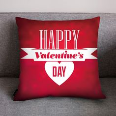 Red Valentine's Day Pillow Cover. Nine designs to choose from all on a red background. Red is the colour of LOVE so, spoilt of choice order all designs. Aladdin, Red Background, All Design, Home Gifts, Happy Valentines Day, Gifts For Him, Pillow Covers, Throw Pillows, Box