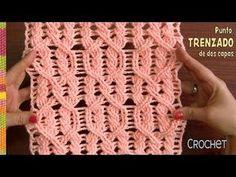 Punto trenzado en dos capas tejido a crochet paso a paso / Tejiendo Perú // света ломакова Art Au Crochet, Pull Crochet, Crochet Cable, Crochet Motifs, Crochet Stitches Patterns, Stitch Patterns, Knitting Patterns, Crochet Crocodile Stitch, Crochet Headband Pattern