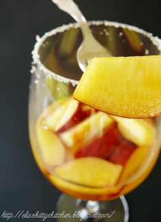 Italian Drink Recipes...… Pesche al vino