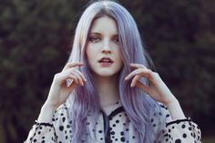 Sóley Sigurþórs photographed by Cecy Young with Grey/Violet locks
