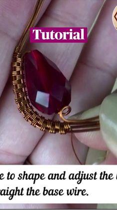 Copper Wire Jewelry, Wire Jewelry Making, Handmade Wire Jewelry, Diy Crafts Jewelry, Jewelry Making Tutorials, Wire Wrapped Jewelry, Wirework Jewelry Tutorials, Making Jewelry For Beginners, Handmade Jewelry Tutorials