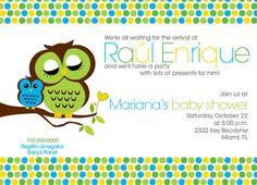 Baby Boy Shower Owl Invitation by BigloveDesignsPR on Etsy, $20.00