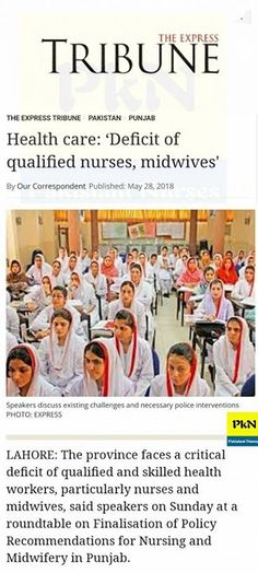 Health care: Deficit of qualified nurses midwives'