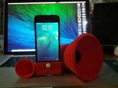 Red little speakers