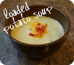 Live a Little Wilder: Loaded Potato Soup - recipe Best potato soup EVER! Best Potato Soup, Loaded Potato Soup, Loaded Baked Potatoes, Soup And Sandwich, Soup And Salad, I Love Food, Soup Recipes, Lunch Recipes, Yummy Recipes