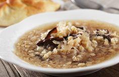 Russian Sauerkraut Mushroom Barley Soup Pasta Recipes - recipe, Russian, soup, sauerkraut, mushrooms, cider, chicken broth, thyme, barley - Russian Sauerkraut Mushroom Soup - Pasta...