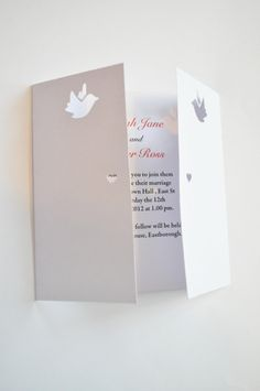 Dove Gatefold Laser Cut Wedding Invitation