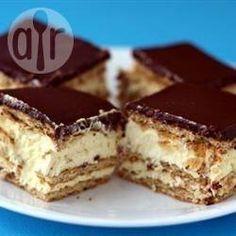 Pavê rápido de chocolate e baunilha @ allrecipes.com.br