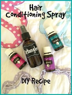 DIY Hair Detangling & Daily Conditioning Spray: Combine in a 1 oz glass spray bottle 5 drops Geranium oil, 5 drops Lavender oil, 5 drops Rosemary oil, a splash of Witch Hazel, then fill to top with distilled water. Shake well and spray on wet or dry hair Essential Oil Beginner, Essential Oil Spray, Essential Oils For Hair, Young Living Essential Oils, Essential Oil Blends, Geranium Essential Oil, Essential Oils Cleaning, Young Living Oils, Doterra Essential Oils