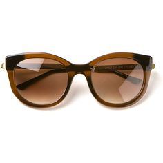 Thierry Lasry Brown Sunglasses (108.820 HUF) ❤ liked on Polyvore
