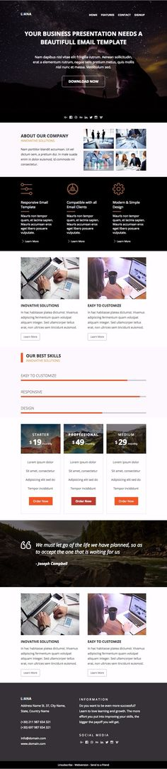 Responsive Liana Email Template For Promoting Your Eshop Products - Buy mailchimp templates