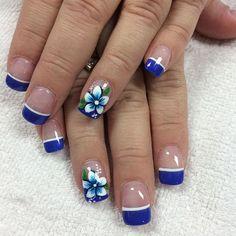It's gardening time! I just got my nails done 🤗💅🏻 Nail Pro, Nail Tech, Nail Nail, Spring Nail Art, Spring Nails, Colorful Nail Designs, Nail Art Designs, Blue Nails, My Nails