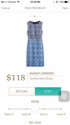 Dear Stitch Fix Stylist - love the Maggie London Tamiko knit dress for business wear but maybe also everyday use. Looks pretty versatile.