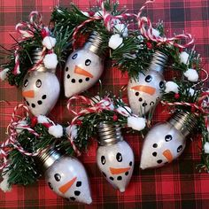 C9 shape retro light bulbs filled with glittery snow turned into cute snowman face ornaments. Just in time for ladies night tonight at Roost in Pewaukee. Limited quantity. Get these cuties while you can. #christmasornament #☃  .  .  .  #christmastree #christmasdecorations #roostlynndalefarm #wisconsinmade #makeoneforyou #wisconsin #gifts  #holidaydecor #holidaydecorations #handmadeisbest #christmasdecor #christmas #snowman #ornament