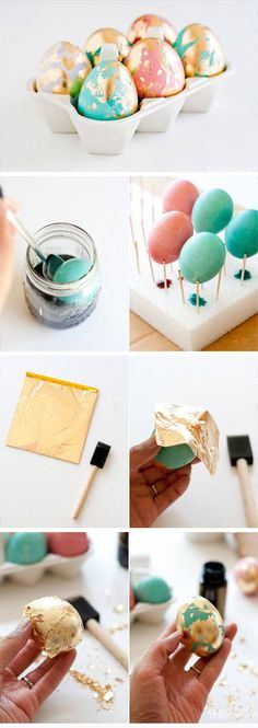 Golden Marbled Easter Eggs | DIY Easter Decor Ideas for the Home