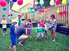 Fun Outdoor Kids Party Games - My Outdoorr Backyard Party Games, Outdoor Party Games, Kids Party Games, Outdoor Parties, Party Activities, Backyard Kids, Party Party, Fun Games, 65th Birthday Party Ideas