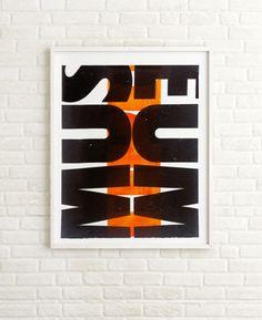 """Typo Museum"" by Cabaret Typographie, printed at Tipoteca Italiana Fondazione"