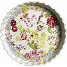 Millefleurs - 1 Moule à tarte Quiche Dish, Cheese Dishes, Table Accessories, Elegant Table, China Patterns, Simple Shapes, Earthenware, Stoneware, Pie Dish