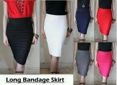 long bandage skirt