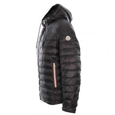 Moncler Athenes Quilted Jacket in Black | at Aphrodite Clothing UK