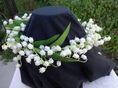Custom order Lily of the Valley hair wreath by AlwaysElegantBridal, $25.00